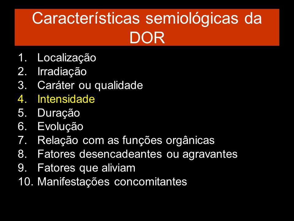 Características semiológicas da DOR