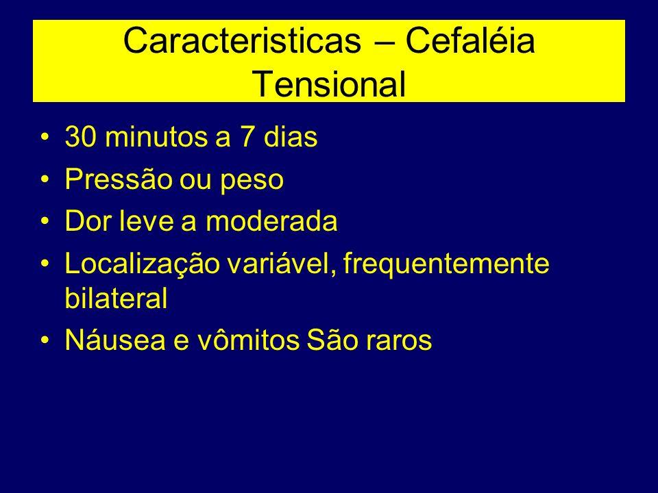 Caracteristicas – Cefaléia Tensional