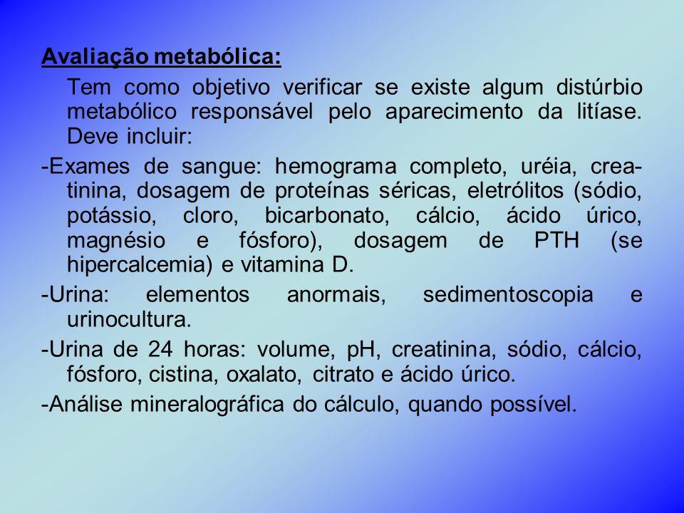 Avaliação metabólica: