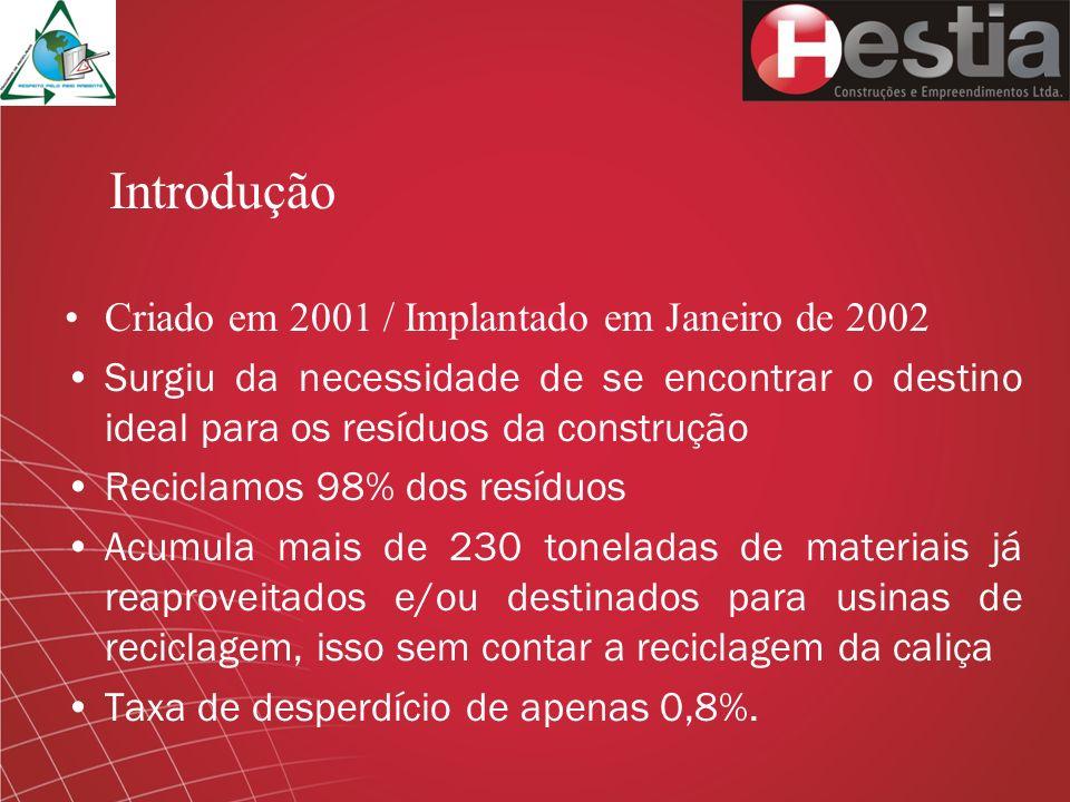 Introdução Criado em 2001 / Implantado em Janeiro de 2002