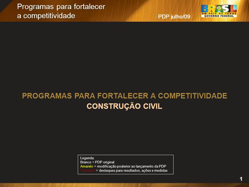 Programas para fortalecer a competitividade