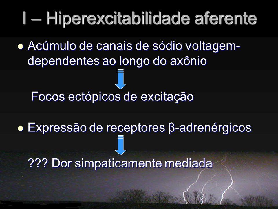 I – Hiperexcitabilidade aferente