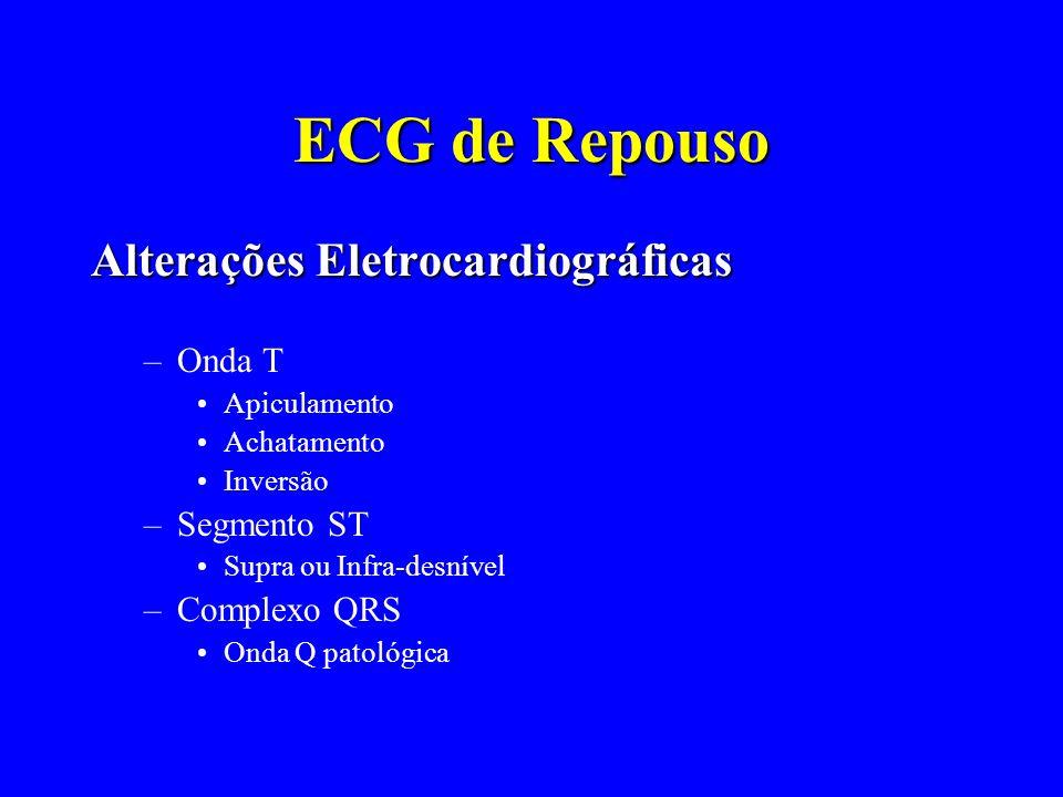 ECG de Repouso Alterações Eletrocardiográficas Onda T Segmento ST