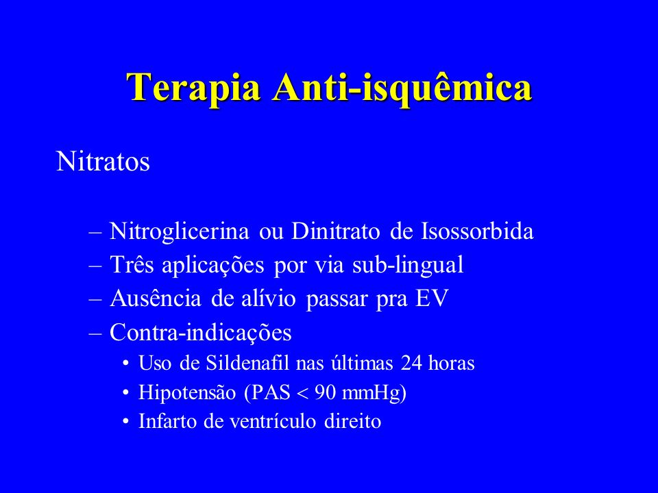 Terapia Anti-isquêmica