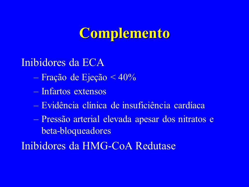 Complemento Inibidores da ECA Inibidores da HMG-CoA Redutase