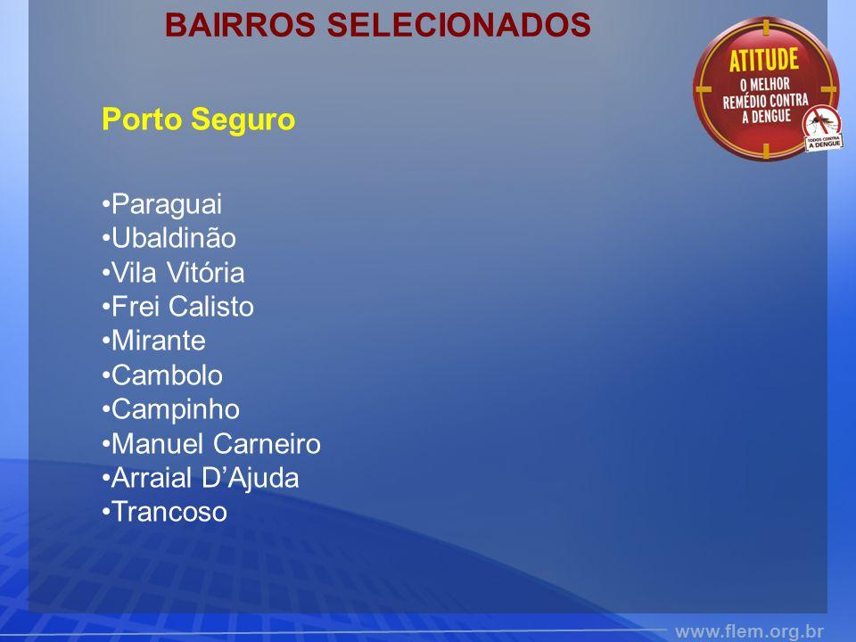 BAIRROS SELECIONADOS Porto Seguro Paraguai Ubaldinão Vila Vitória