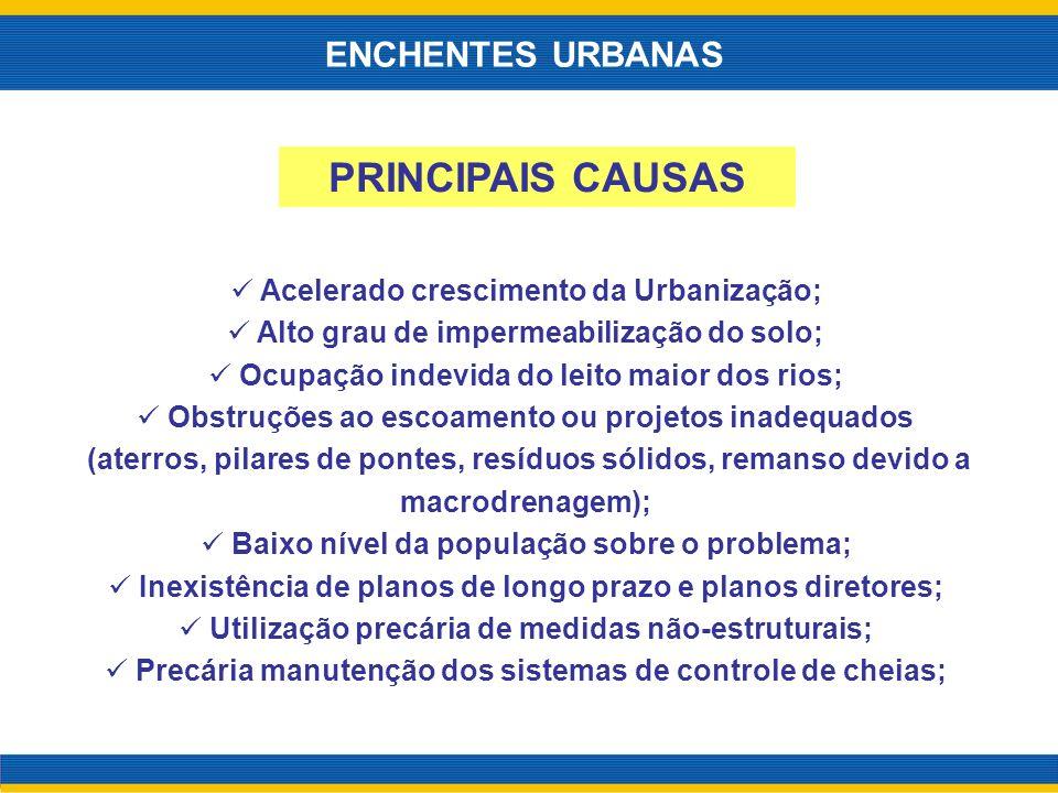 PRINCIPAIS CAUSAS ENCHENTES URBANAS