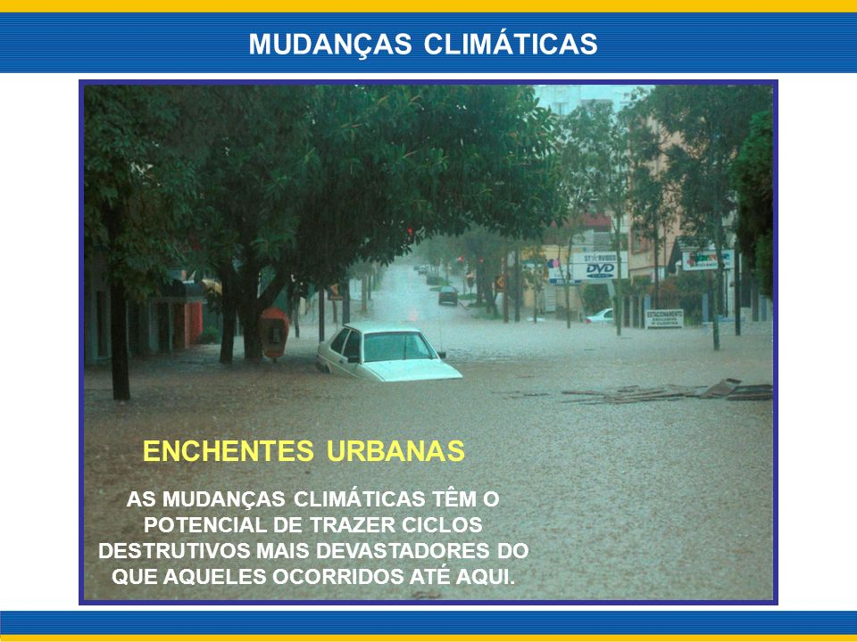 MUDANÇAS CLIMÁTICAS ENCHENTES URBANAS