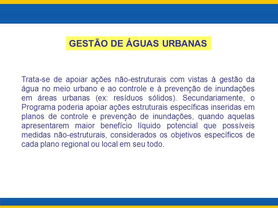 GESTÃO DE ÁGUAS URBANAS
