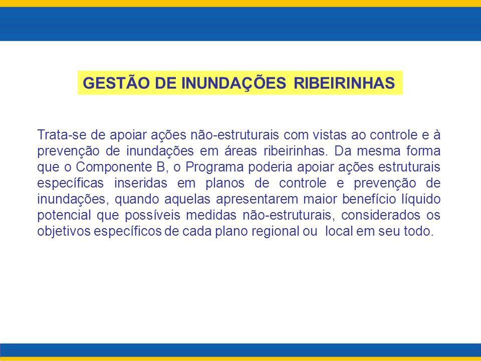 GESTÃO DE INUNDAÇÕES RIBEIRINHAS