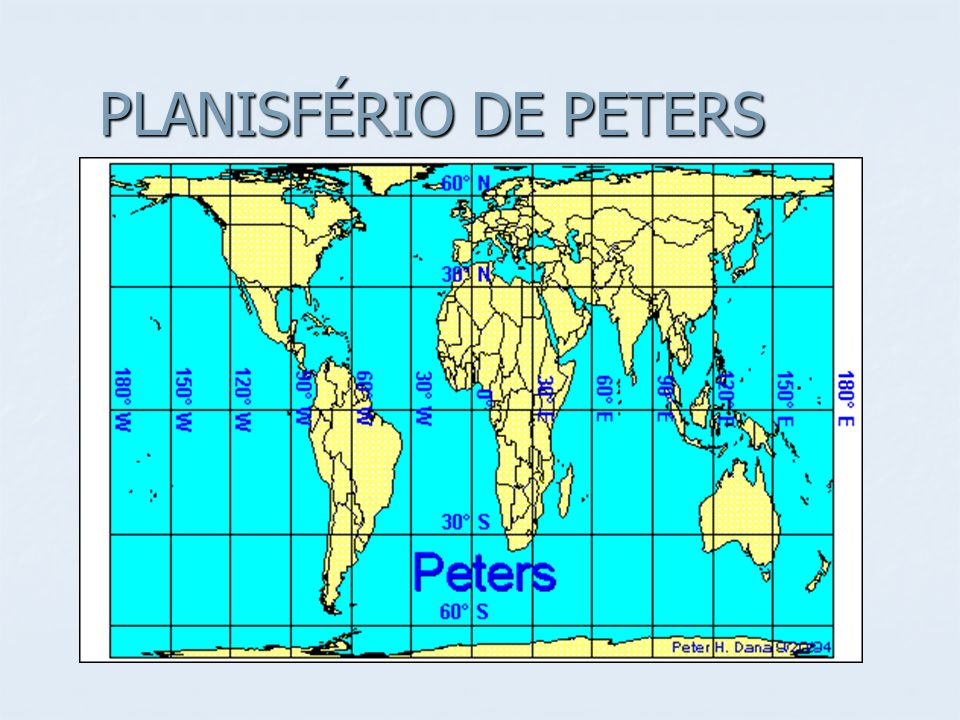 PLANISFÉRIO DE PETERS