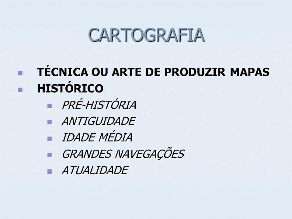 CARTOGRAFIA TÉCNICA OU ARTE DE PRODUZIR MAPAS HISTÓRICO PRÉ-HISTÓRIA