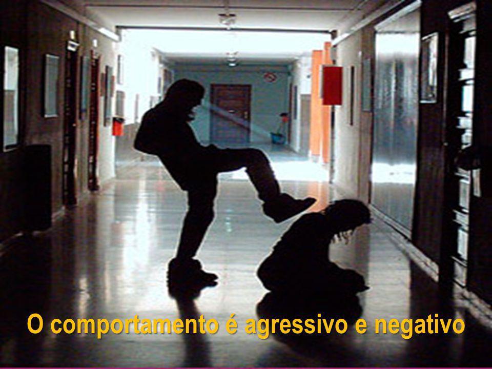 O comportamento é agressivo e negativo
