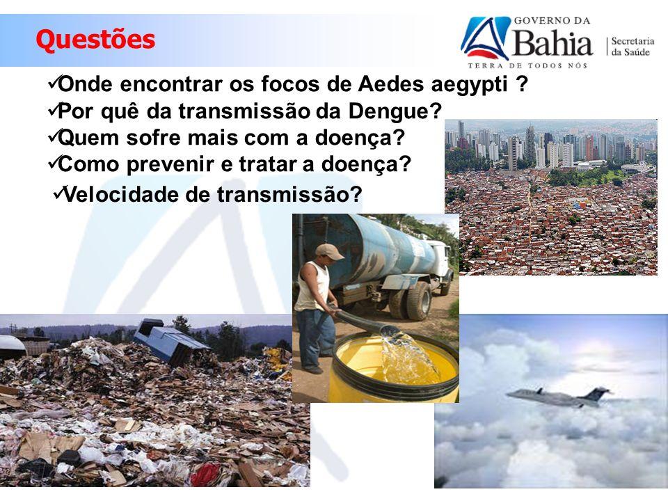 Questões Onde encontrar os focos de Aedes aegypti