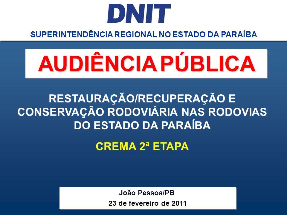 SUPERINTENDÊNCIA REGIONAL NO ESTADO DA PARAÍBA