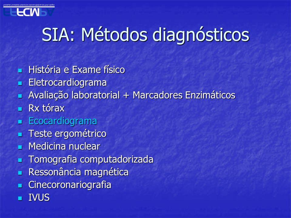 SIA: Métodos diagnósticos