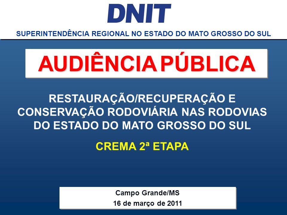 SUPERINTENDÊNCIA REGIONAL NO ESTADO DO MATO GROSSO DO SUL
