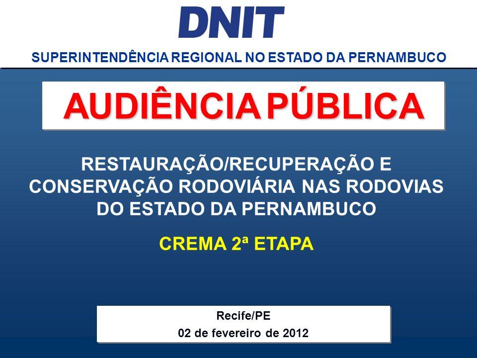 SUPERINTENDÊNCIA REGIONAL NO ESTADO DA PERNAMBUCO