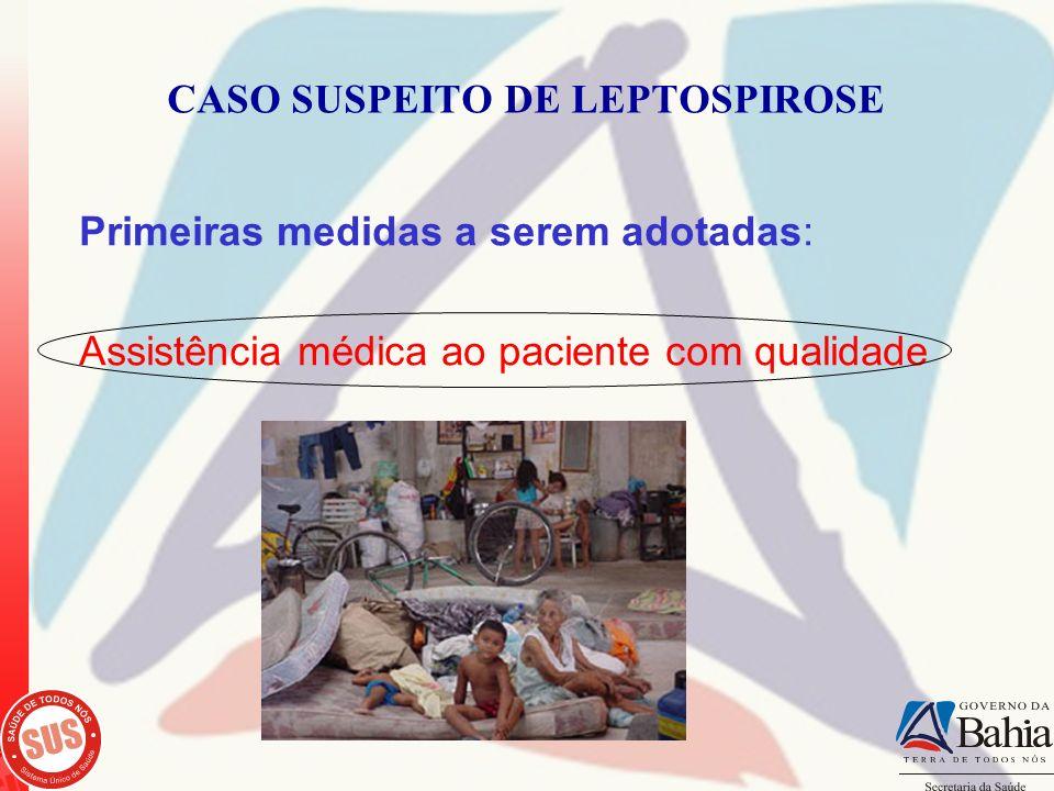 CASO SUSPEITO DE LEPTOSPIROSE