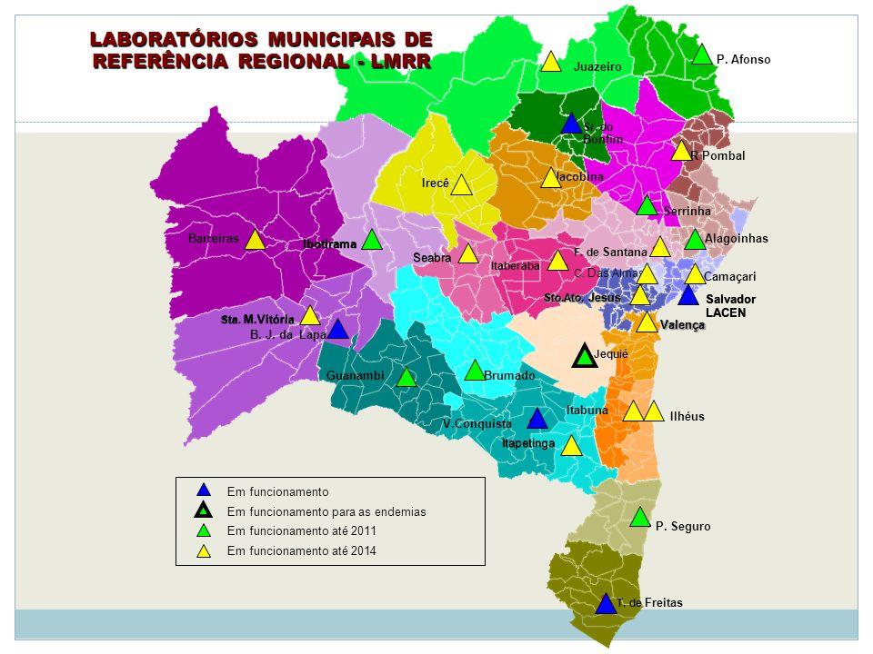 LABORATÓRIOS MUNICIPAIS DE REFERÊNCIA REGIONAL - LMRR
