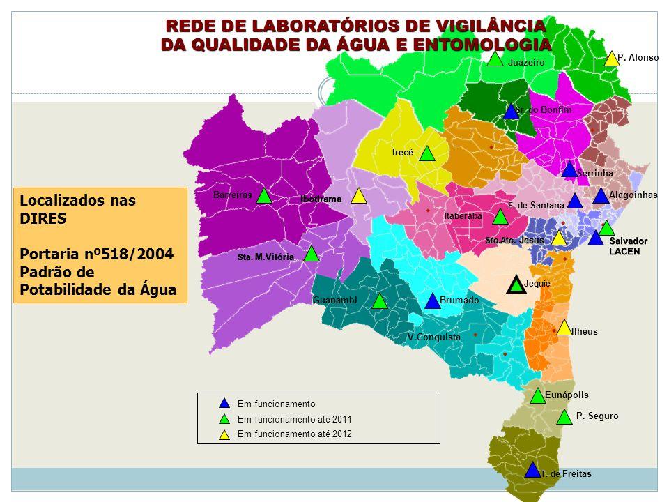 REDE DE LABORATÓRIOS DE VIGILÂNCIA DA QUALIDADE DA ÁGUA E ENTOMOLOGIA