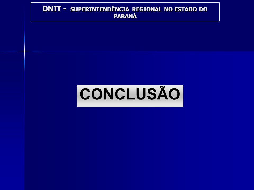 DNIT - SUPERINTENDÊNCIA REGIONAL NO ESTADO DO PARANÁ