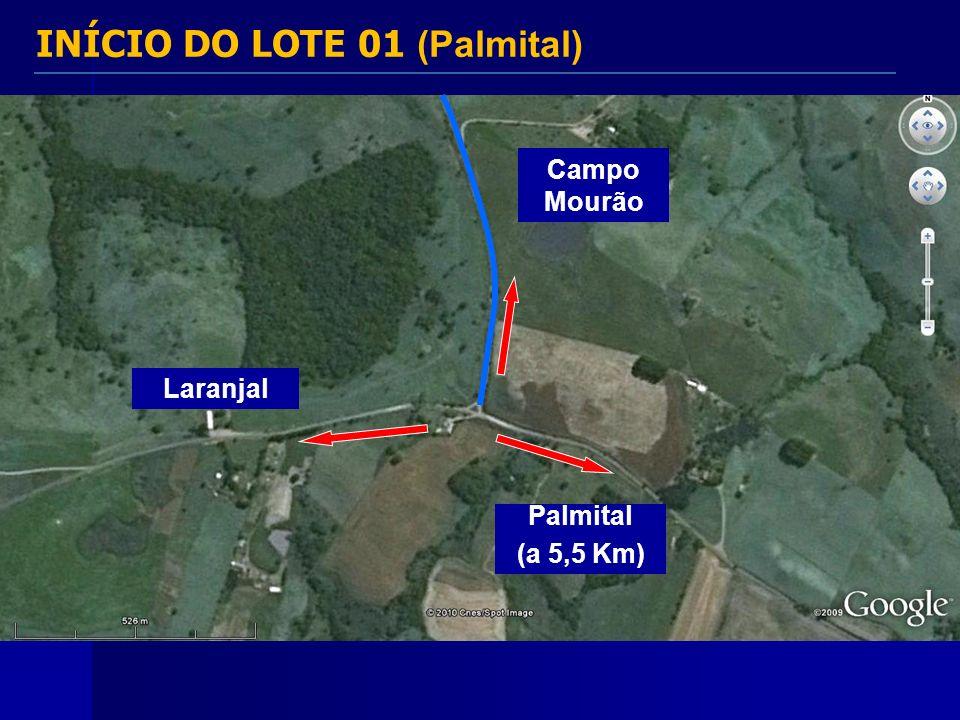 INÍCIO DO LOTE 01 (Palmital)