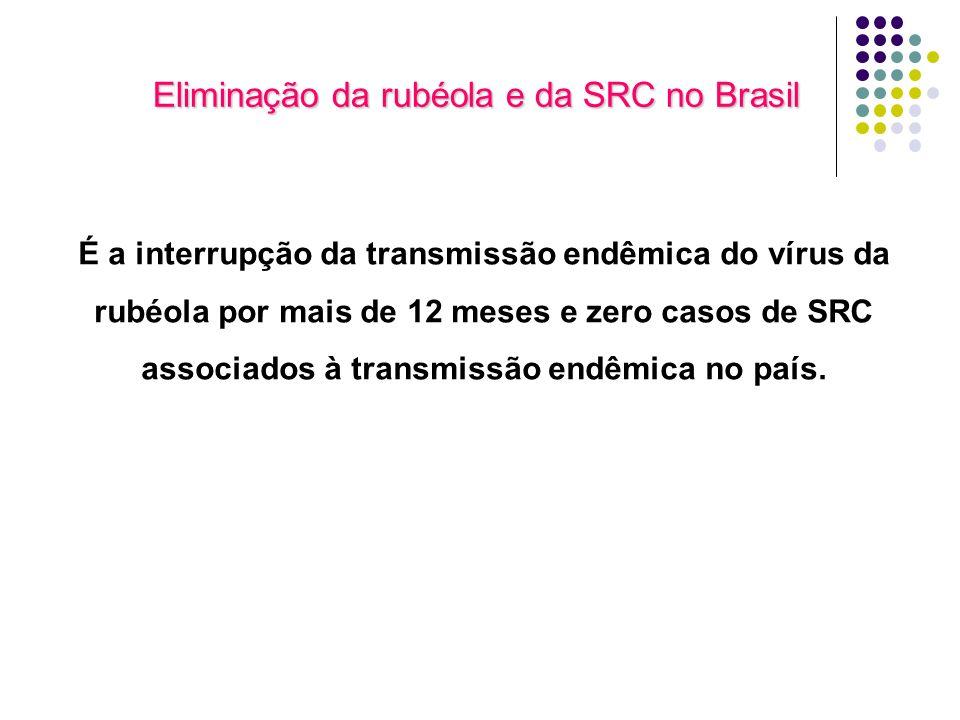 Eliminação da rubéola e da SRC no Brasil