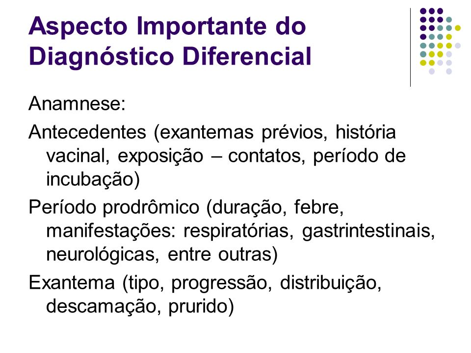Aspecto Importante do Diagnóstico Diferencial