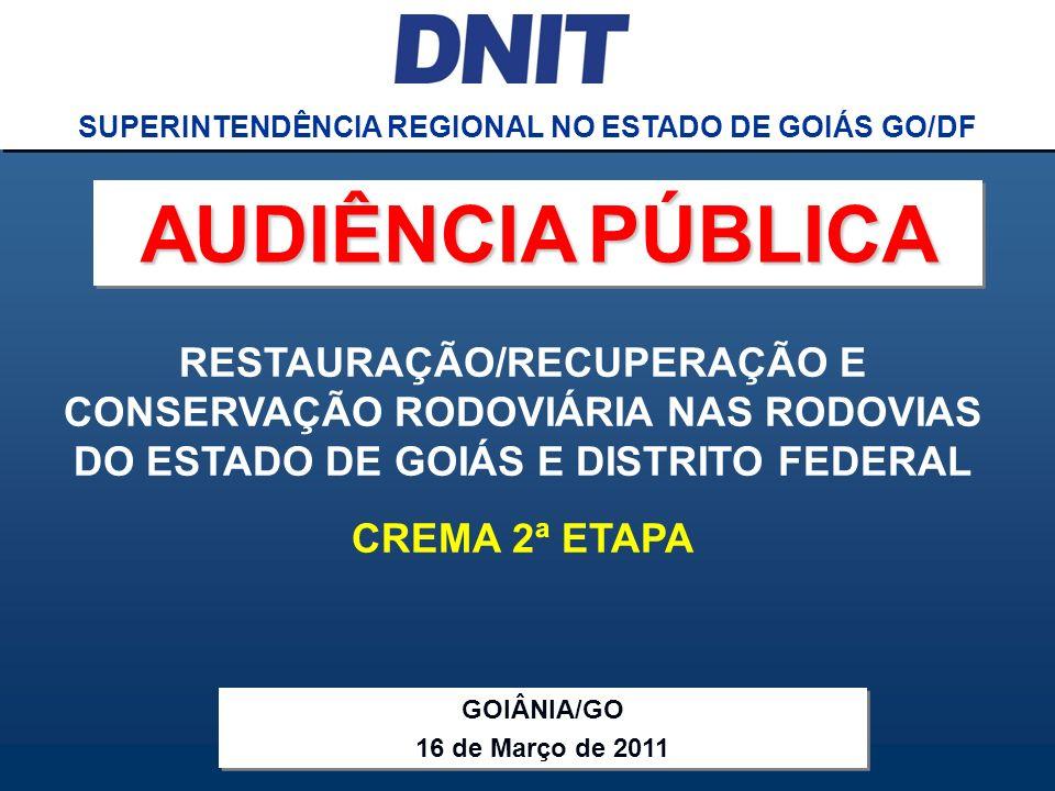 SUPERINTENDÊNCIA REGIONAL NO ESTADO DE GOIÁS GO/DF