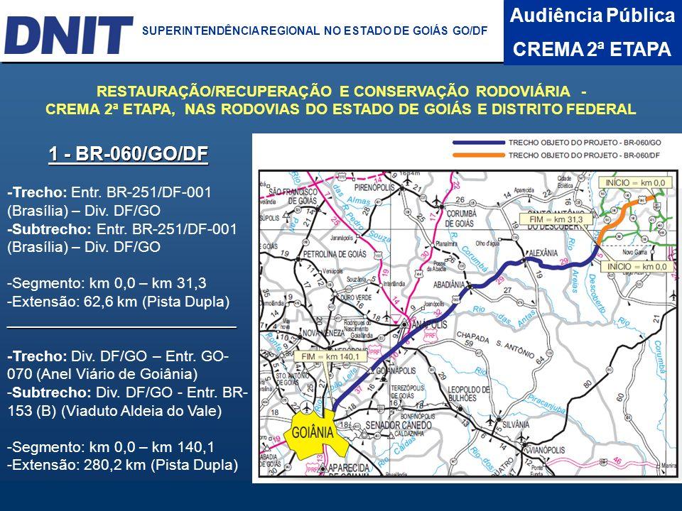 Audiência Pública CREMA 2ª ETAPA 1 - BR-060/GO/DF