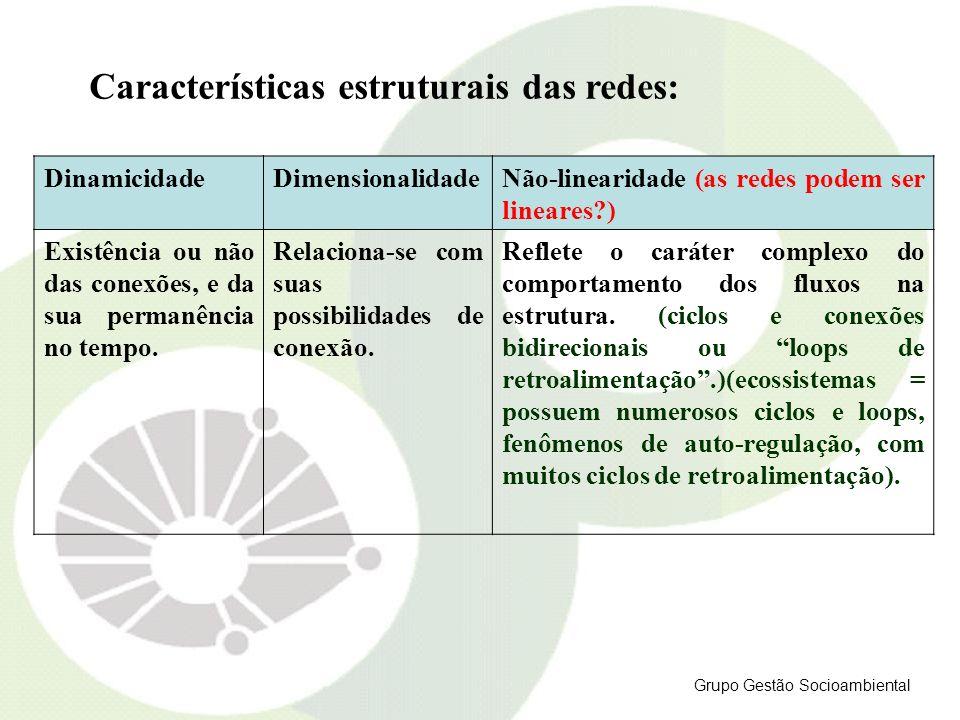 Características estruturais das redes: