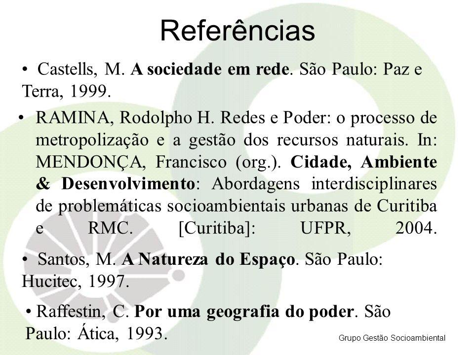 Referências Castells, M. A sociedade em rede. São Paulo: Paz e Terra, 1999.