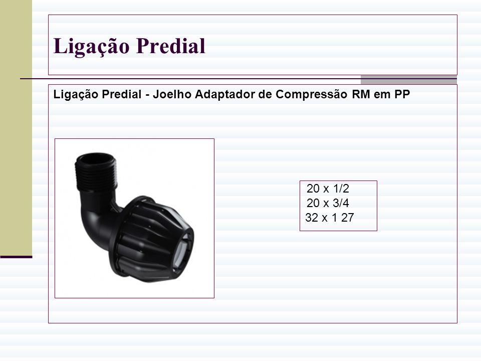 Ligação Predial Ligação Predial - Joelho Adaptador de Compressão RM em PP.