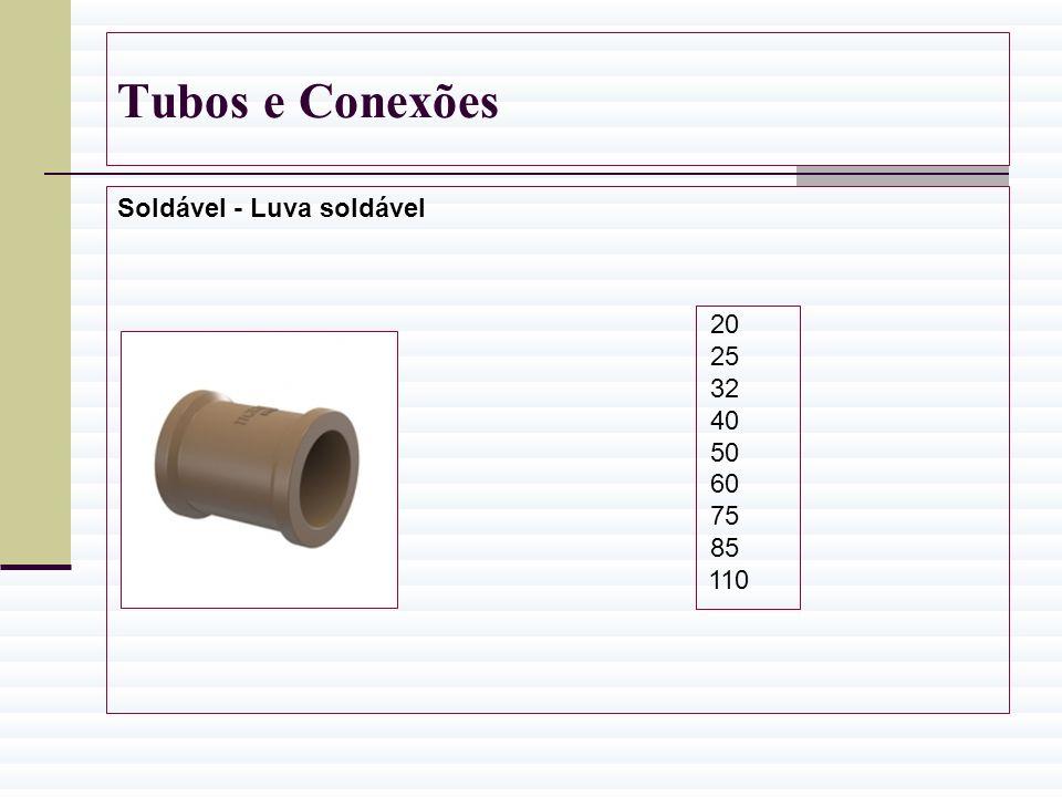 Tubos e Conexões Soldável - Luva soldável 20 25 32 40 50 60 75 85 110
