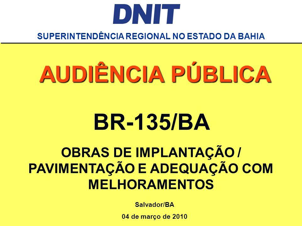 AUDIÊNCIA PÚBLICA BR-135/BA