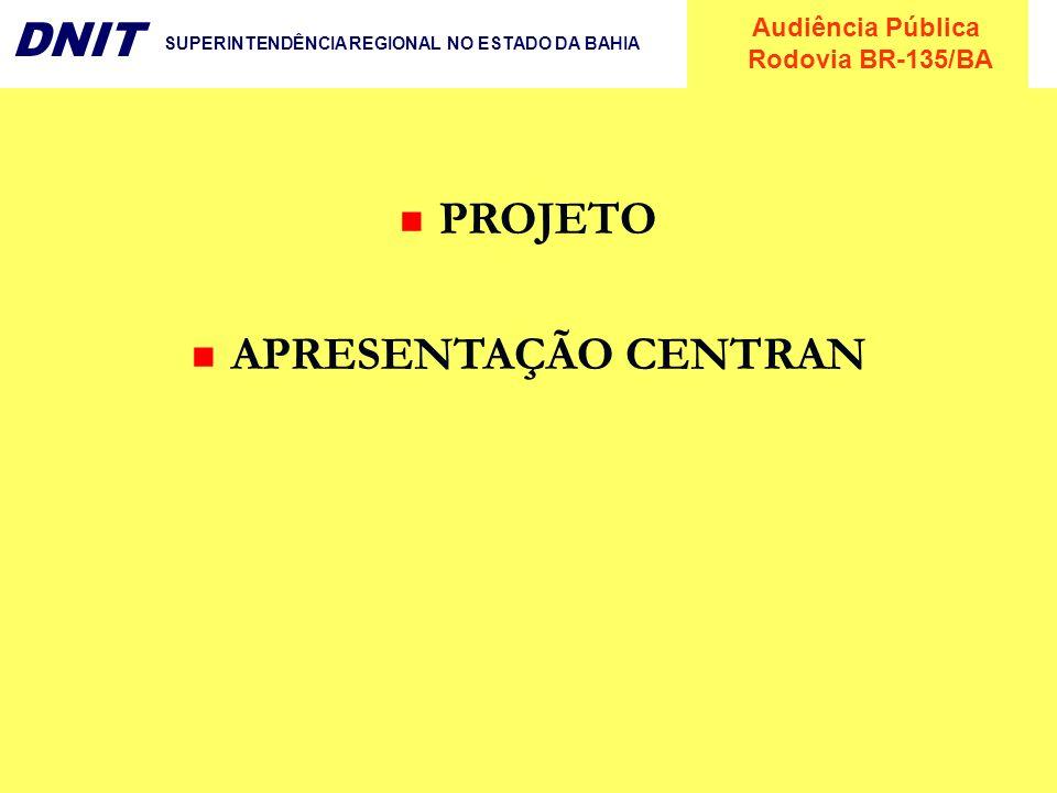 PROJETO APRESENTAÇÃO CENTRAN