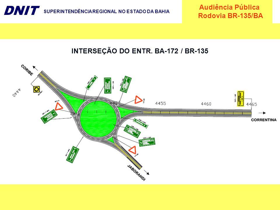 INTERSEÇÃO DO ENTR. BA-172 / BR-135
