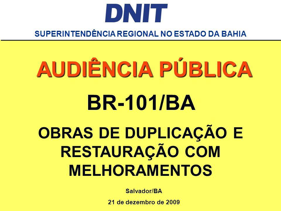 AUDIÊNCIA PÚBLICA BR-101/BA