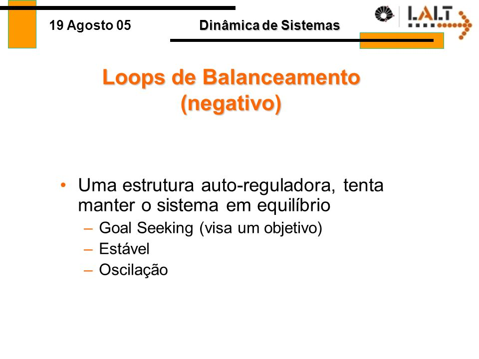 Loops de Balanceamento (negativo)