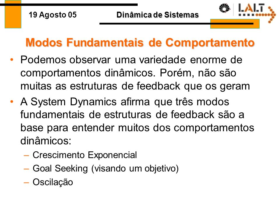Modos Fundamentais de Comportamento