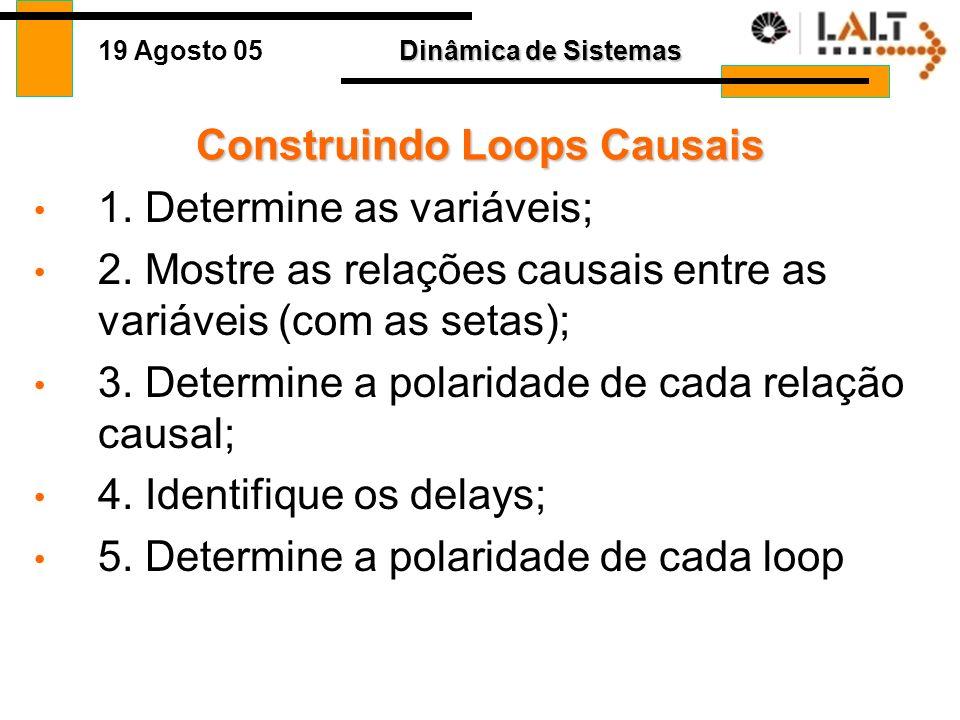 Construindo Loops Causais