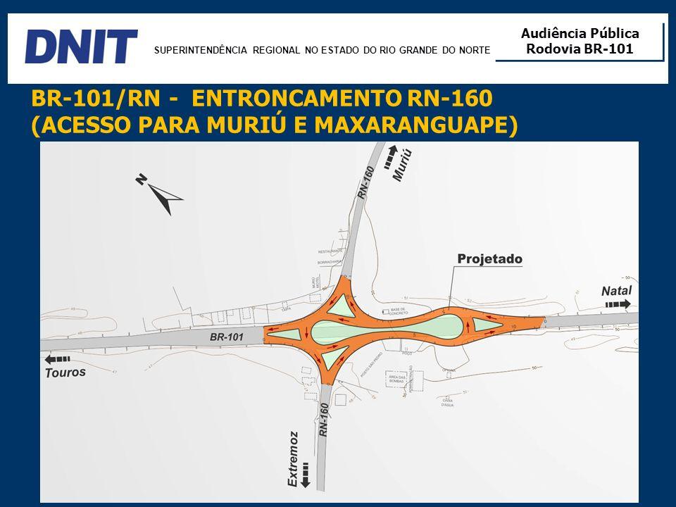 BR-101/RN - ENTRONCAMENTO RN-160 (ACESSO PARA MURIÚ E MAXARANGUAPE)