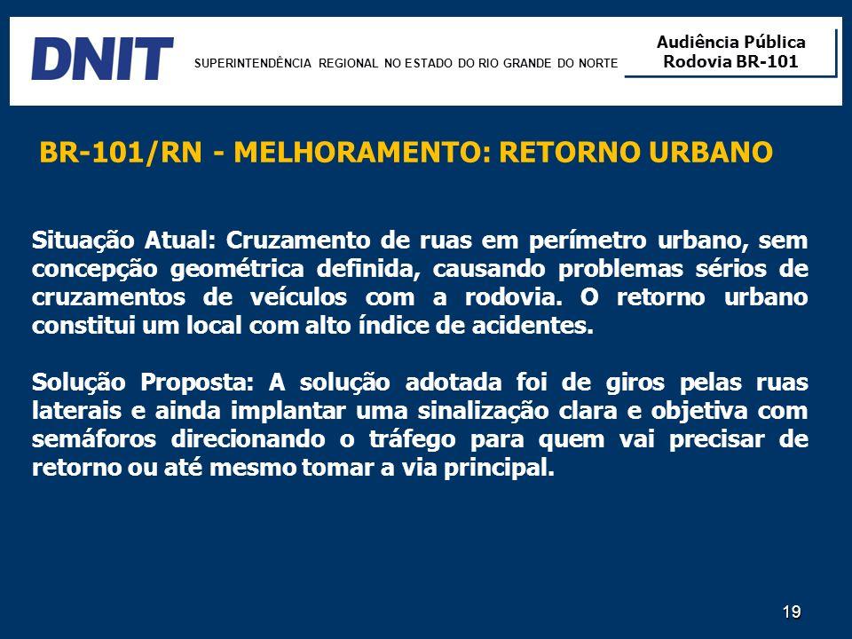 BR-101/RN - MELHORAMENTO: RETORNO URBANO