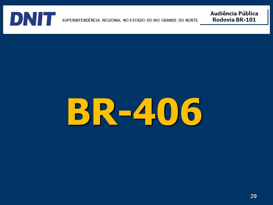 BR-406 SUPERINTENDÊNCIA REGIONAL NO ESTADO DO RIO GRANDE DO NORTE