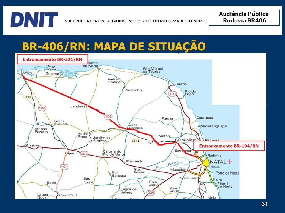 BR-406/RN: MAPA DE SITUAÇÃO