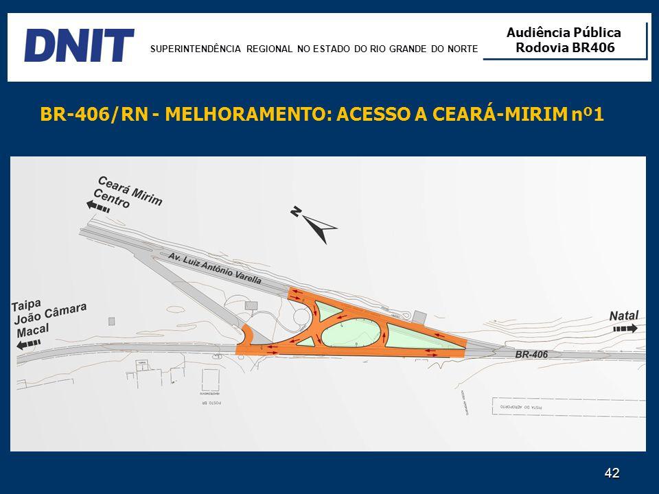 BR-406/RN - MELHORAMENTO: ACESSO A CEARÁ-MIRIM nº1