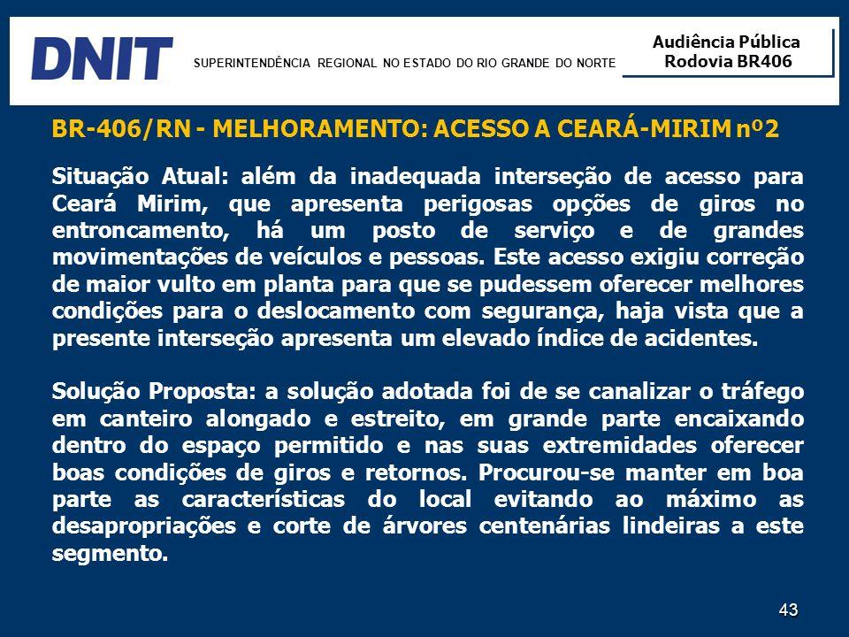 BR-406/RN - MELHORAMENTO: ACESSO A CEARÁ-MIRIM nº2