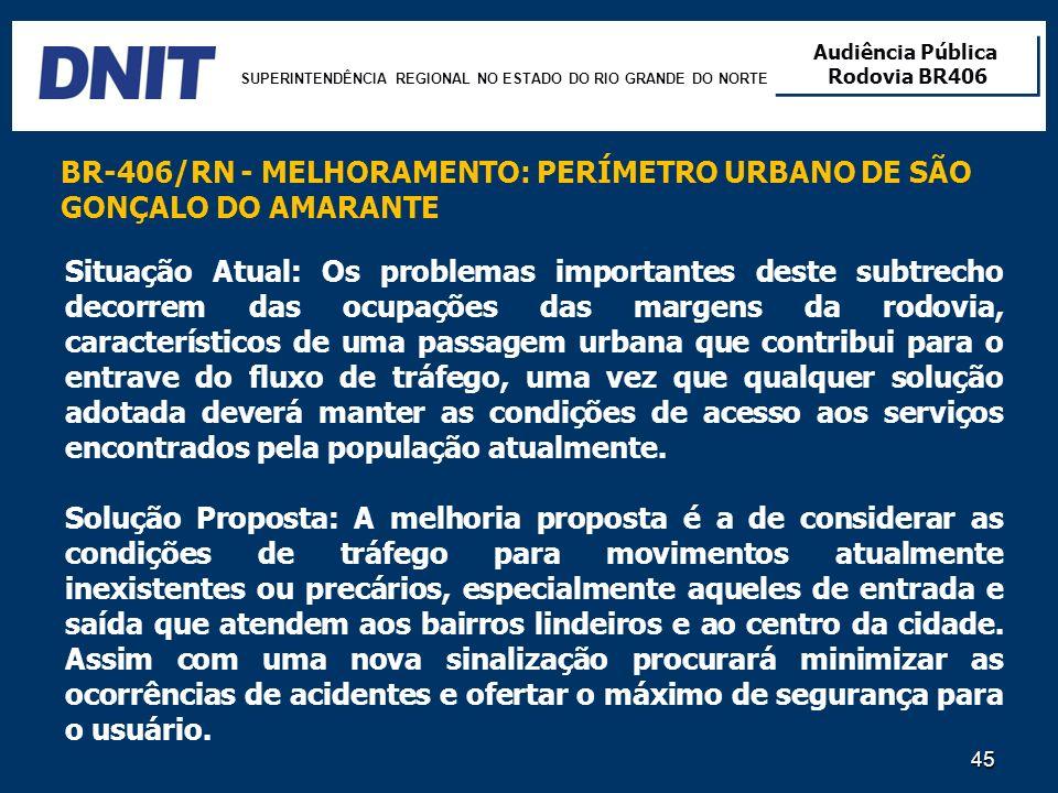 BR-406/RN - MELHORAMENTO: PERÍMETRO URBANO DE SÃO GONÇALO DO AMARANTE