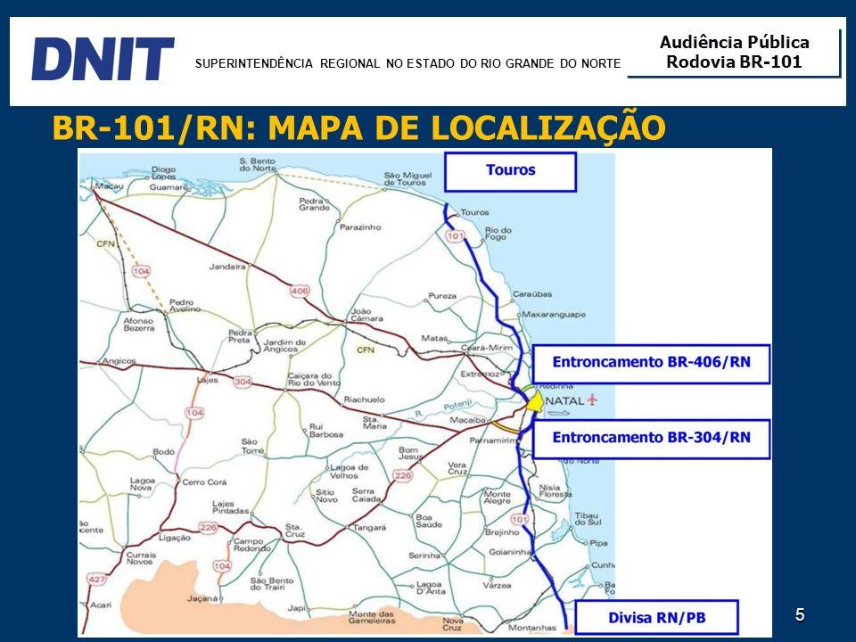 BR-101/RN: MAPA DE LOCALIZAÇÃO